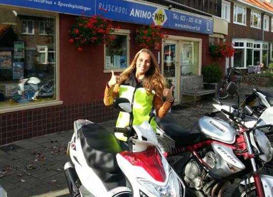 Scooterrijles omgeving Bloemendaal/IJmuiden