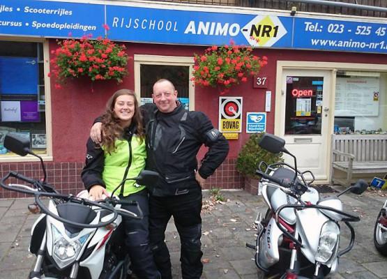 Motorrijles in de buurt van Bloemendaal/IJmuiden, Rijschool Animo-Nr.1