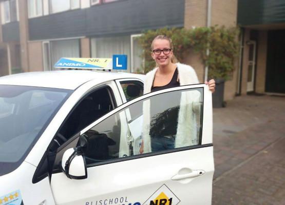 Geslaagd voor autorijles bij Rijschool Animo / Nr.1 in Haarlem