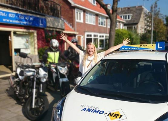 Geslaagd bij Rijschool Animo / Nr.1 in Haarlem