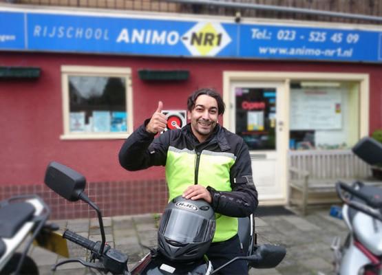 Motorrijles bij Rijschool Animo-Nr.1 in Haarlem
